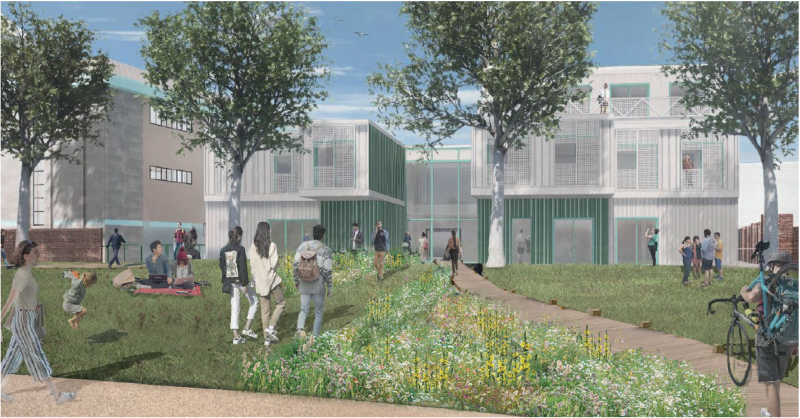 This image shows an artist's impression of the Minster Exchange